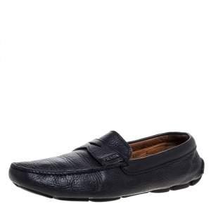 حذاء لوفرز برادا سليب أون دريفر بينى جلد أسود مقاس 42