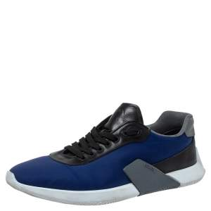 Prada Multicolor Nylon and Leather Low Top Sneakers Size 44