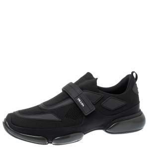 Prada Black Mesh and Rubber Cloudbust Sneakers Size 45