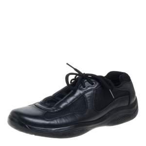 حذاء رياضى برادا نيفاد بايك شبك وجلد أسود مقاس 41.5