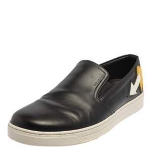 Prada Black Leather Slip on Sneakers Size 41.5