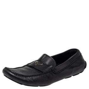 Prada Black Leather Driver Loafer Size 42.5
