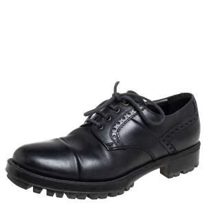Prada Black Leather Lace up Derby Size 41.5