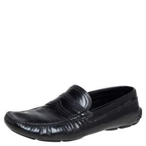 Prada Black Leather Penny Slip On Loafers Size 42.5