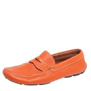 حذاء لوفرز برادا سليب أون جلد برتقالي مقاس 42