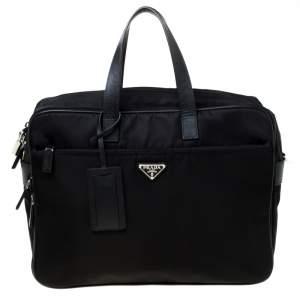 حقيبة لابتةب برادا نايلون أسود