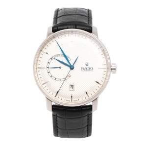 ساعة يد رجالية رادو كوبول كلاسيك R22878015 أوتوماتيك جلد وستانلس ستيل فضية 41 مم