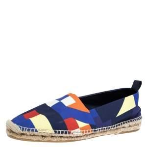 Ralph Lauren Multicolor Canvas Slip On Espadrilles Loafers Size 43