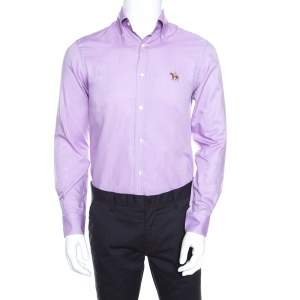 Ralph Lauren Lavender Cotton Logo Embroidered Button Down Shirt S