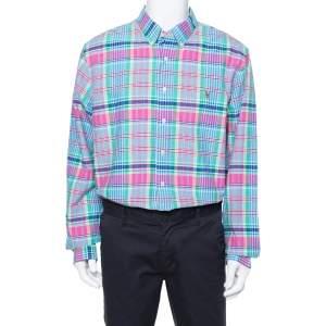 Ralph Lauren Multicolor Cotton Oxford Plaid Slim Fit Shirt XXL