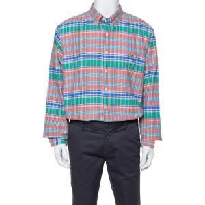 Ralph Lauren Multicolor Cotton Oxford Madras Plaid Slim Fit Shirt XXL