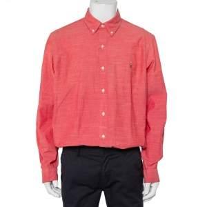Ralph Lauren Pink Cotton Logo Embroidered Button Front Shirt XL