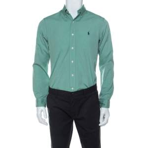 Ralph Lauren Green Cotton Buttoned Shirt S
