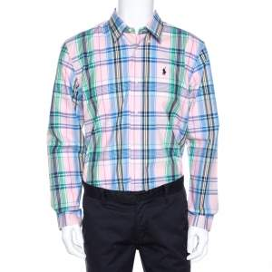 Ralph Lauren Multicolor Madras Check Cotton Custom Fit Shirt XL
