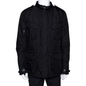 Ralph Lauren Black Button Front Escape Jacket L