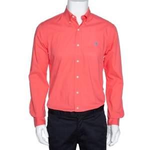Ralph Lauren Coral Pink Cotton Button Down Long Sleeve Shirt M