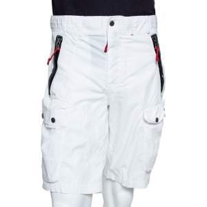 Ralph Lauren RLX White Cotton Blend Cargo Shorts M
