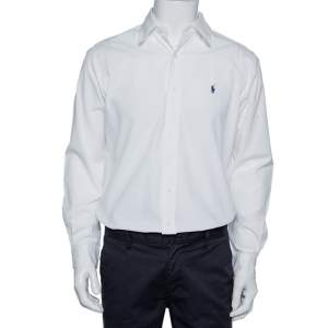 Ralph Lauren White Cotton Button Front Shirt S