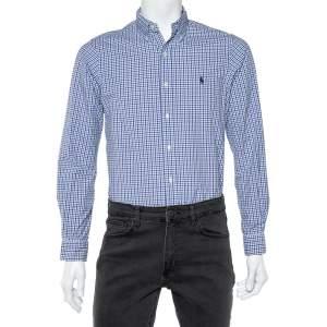 Ralph Lauren Blue Check Cotton Button Down Shirt S