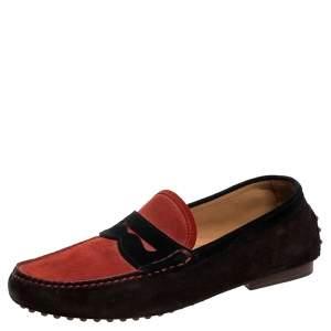Ralph Lauren Multicolor Suede Penny Loafers Size 40