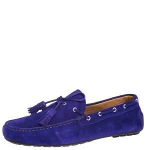 Ralph Lauren Purple Suede Harold Tassel Loafers Size 45