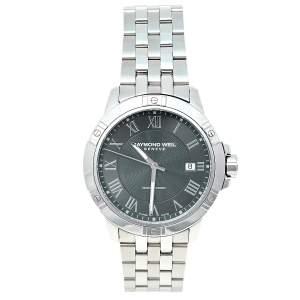 Raymond Weil Grey Stainless Steel Tango 8160-ST-00608 Men's Wristwatch 41 mm