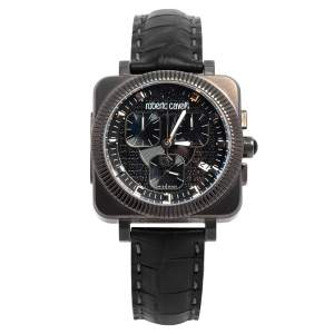 ساعة يد رجالية روبرتو كافالي بوهيمي R7271666025 ستانلس ستيل مطلي پي ڨي دي سوداء 40 مم