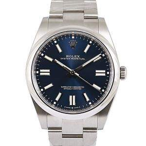 Rolex Blue Stainless Steel Oyster Perpetual Men's Wristwatch 41 MM