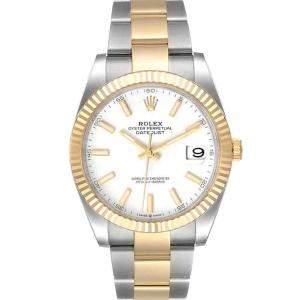 ساعة يد رجالية رولكس ديت جست 126333 ذهب أصفر 18 وستانلس ستيل 41 مم