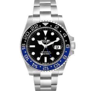 ساعة يد رجالية رولكس جي إم تي ماستر  II 126710 ستانلس ستيل سوداء 40مم