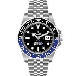 ساعة يد رجالية رولكس جي إم تي ماستر  II بات مان 126710  ستانلس ستيل سوداء 40مم