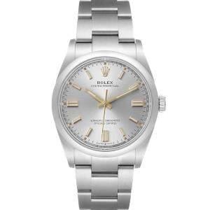 ساعة يد رجالية رولكس أويستر بربتشوال 126000 ستانلس ستيل فضية 36 مم