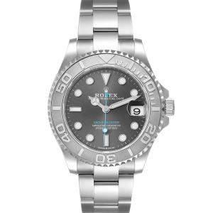 Rolex Grey Stainless Steel Yachtmaster 268622 Men's Wristwatch 37 MM