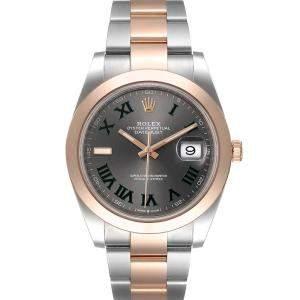 Rolex Grey 18K Rose Gold Wimbledon Datejust 126301 Men's Wristwatch 41 MM