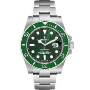 Rolex Green Stainless Steel Submariner Hulk 116610 Men's Wristwatch 40 MM