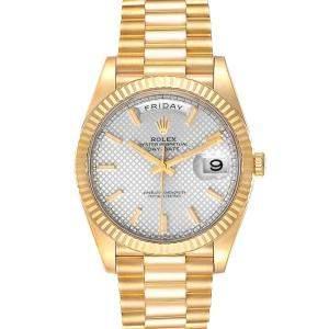 Rolex Silver 18K Yellow Gold President Day-Date 228238 Men's Wristwatch 40 MM