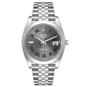 Rolex Grey Stainless Steel Datejust 126300 Men's Wristwatch 41 MM