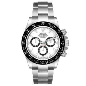 Rolex White Stainless Steel Cosmograph Daytona 116500 Men's Wristwatch 40 MM
