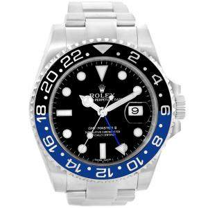 Rolex Black Stainless Steel GMT Master II Men's Wristwatch 40MM