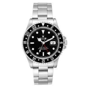Rolex Black Stainless Steel GMT Master 16700 Men's Wristwatch 40MM