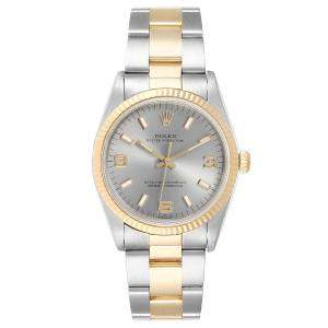 Rolex Slate 18K Yellow Gold and Stainless Steel Oyster Perpetual 14233 Men's Wristwatch 36MM