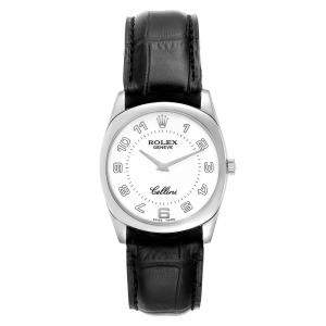 Rolex White 18K White Gold Cellini Danaos 4233 Men's Wristwatch 34 MM