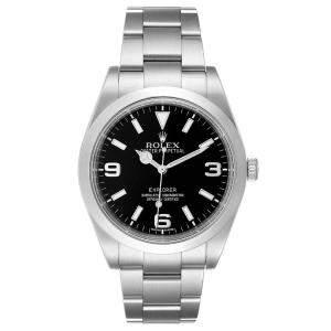 Rolex Black Stainless Steel Explorer I Automatic 214270 Men's Wristwatch 39 MM
