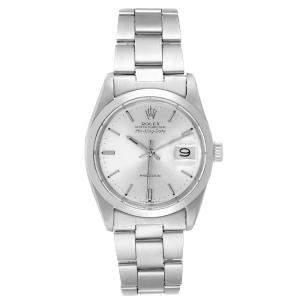 Rolex Silver Stainless Steel Air King Date Vintage 5700 Men's Wristwatch 34 MM