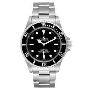Rolex Black Stainless Steel Submariner 14060 Automatic Men's Wristwatch 40 MM