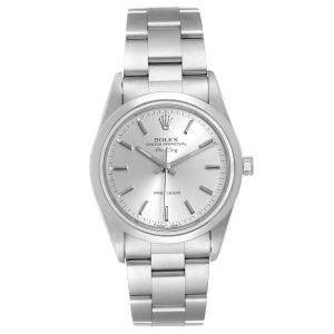Rolex Silver Stainless Steel Air-King 14000 Automatic Men's Wristwatch 34 MM