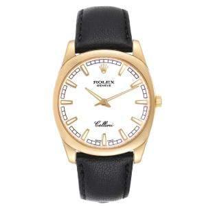 Rolex White 18k Yellow Gold Cellini Danaos 4243 Men's Wristwatch 38 MM