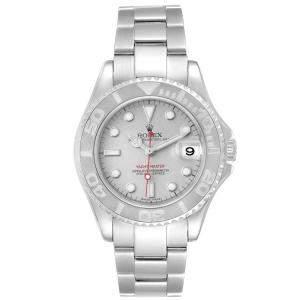 Rolex Platinum Stainless Steel Yachtmaster 168622 Men's Wristwatch 35MM