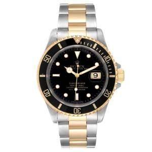 ساعة يد رجالية رولكس  صب مارينر أوتوماتيك 16613  ذهب أصفر وستانلس ستيل 40 مم