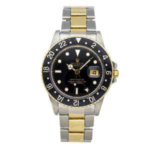 Rolex Black 18K Yellow Gold And Stainless Steel GMT-Master Automatic16753 Men's Wristwatch 40 MM
